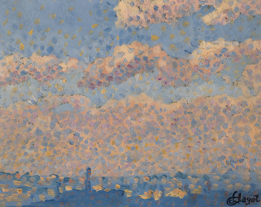 Century Painting - Sky Over The City by Louis Hayet