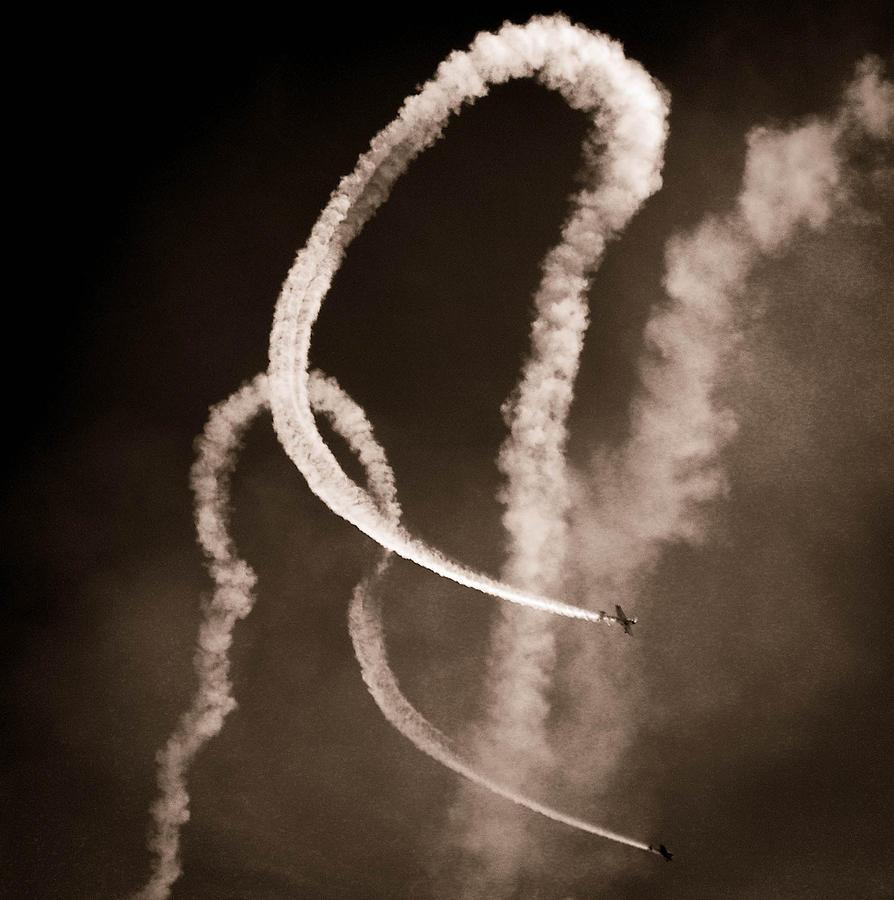 Aerial Acrobatics Photograph - Sky Pas De Duex by Christy Usilton
