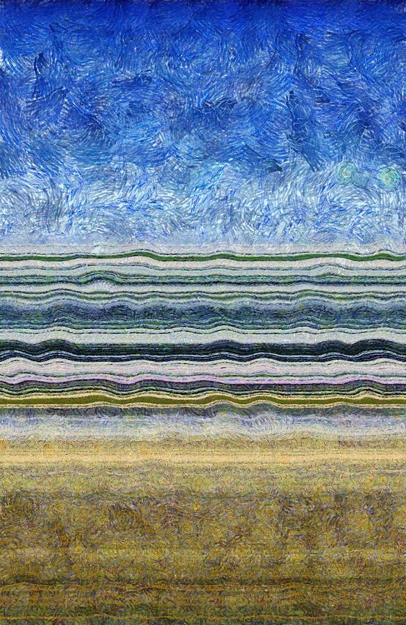 Water Digital Art - Sky Water Earth 2 by Michelle Calkins