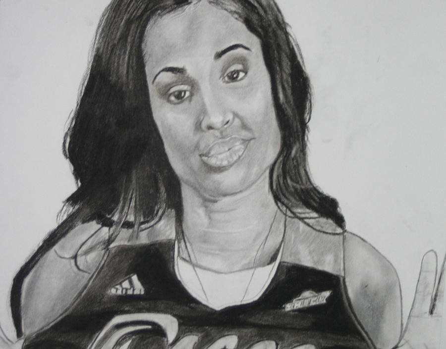 Basketball Drawing - Skylar Diggins by Aaron Balderas