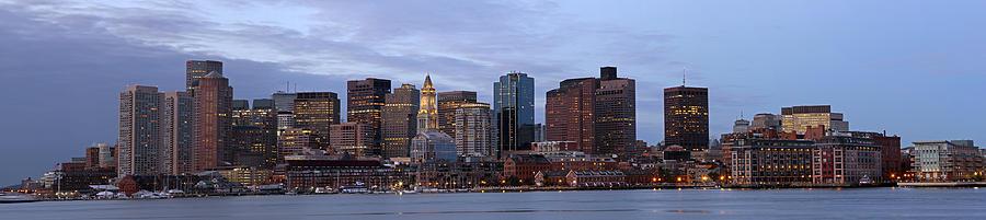 Skyline Panorama Of Boston Photograph