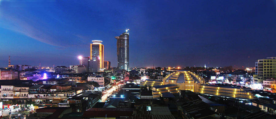 Skyline Phnom Penh, Cambodia Photograph by Jeremie Montessuis