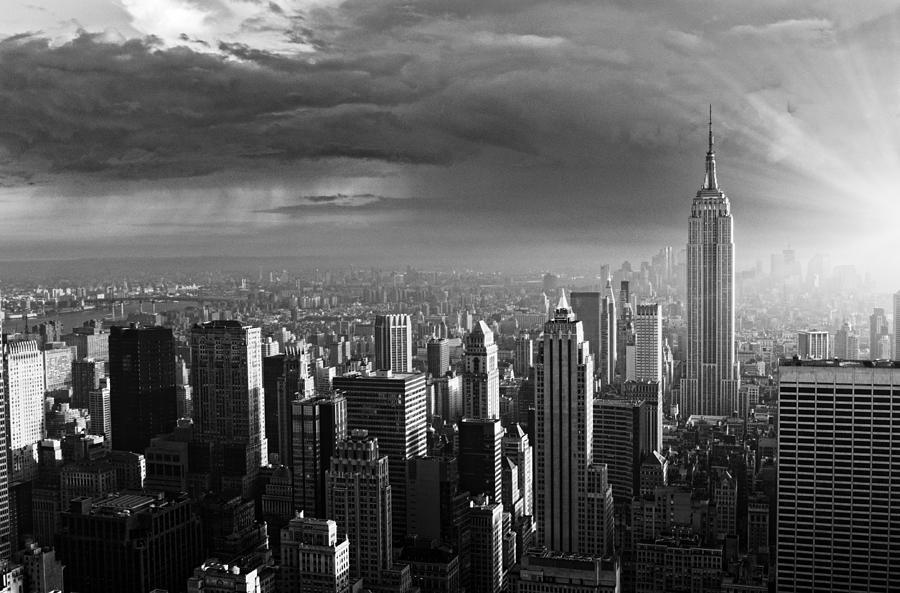 Skyline,NYC. Photograph by Lisa-Blue
