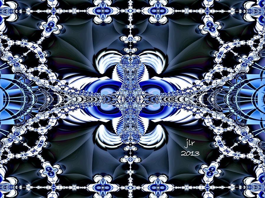 Fractal Digital Art - Skylit by Janet Russell