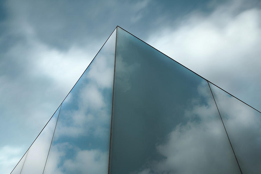 Reflections Photograph - Skyreflect by Gilbert Claes