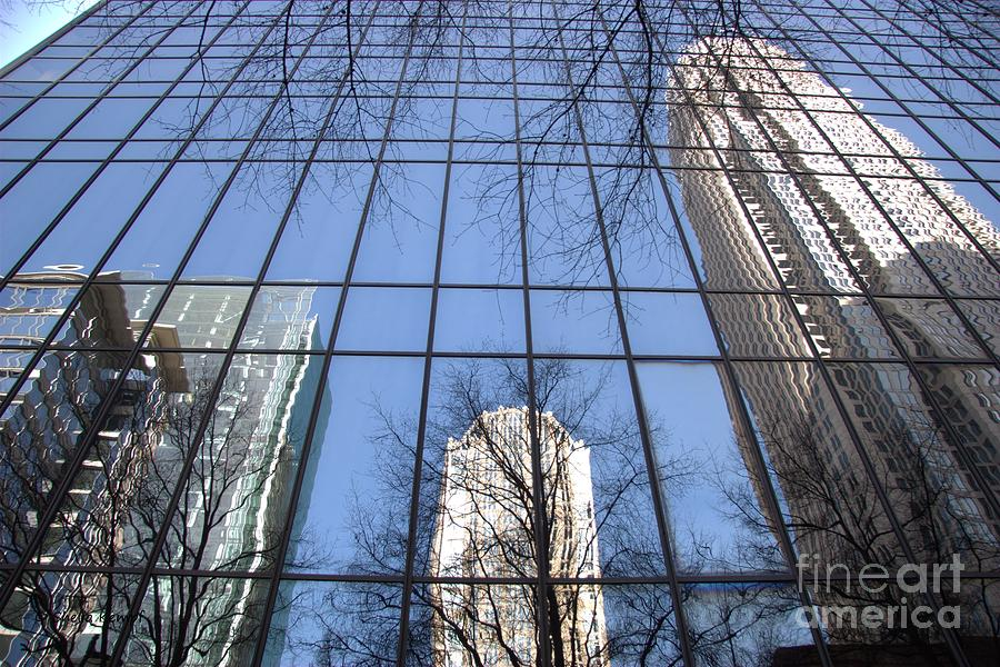 Cityscapes Photograph - Skyscraper Reflections - Charlotte Nc by Shelia Kempf