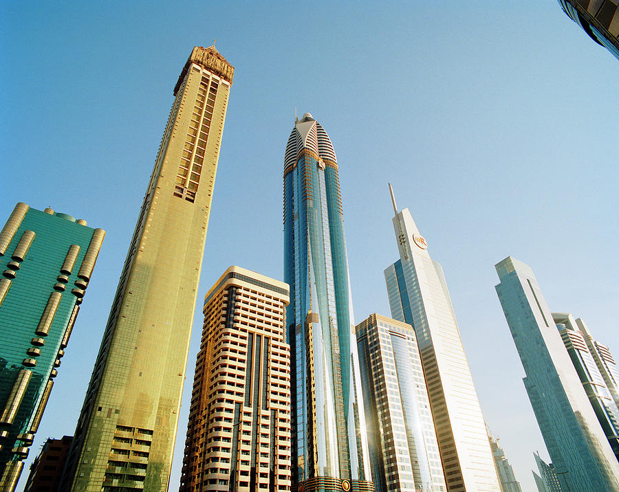 Skyscrapers Along Sheikh Zayed Road At Photograph by Gary Yeowell