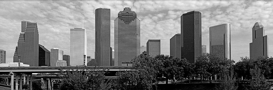 Skyscrapers In Downtown Houston Photograph by Murat Taner