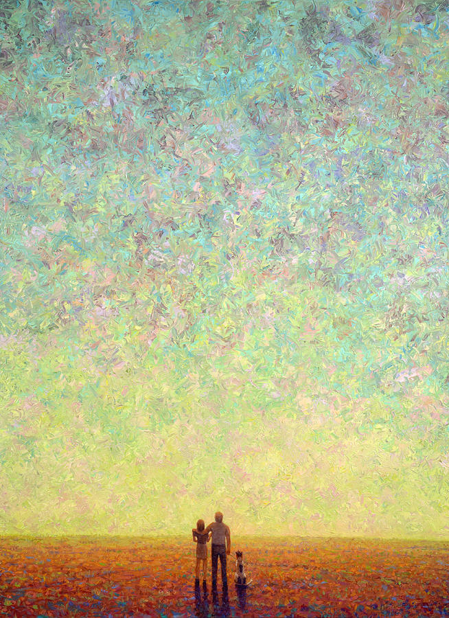Sky Painting - Skywatching In A Painting by James W Johnson