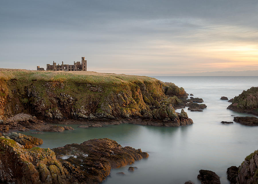 Slains Castle Photograph - Slains Castle Sunrise by Dave Bowman