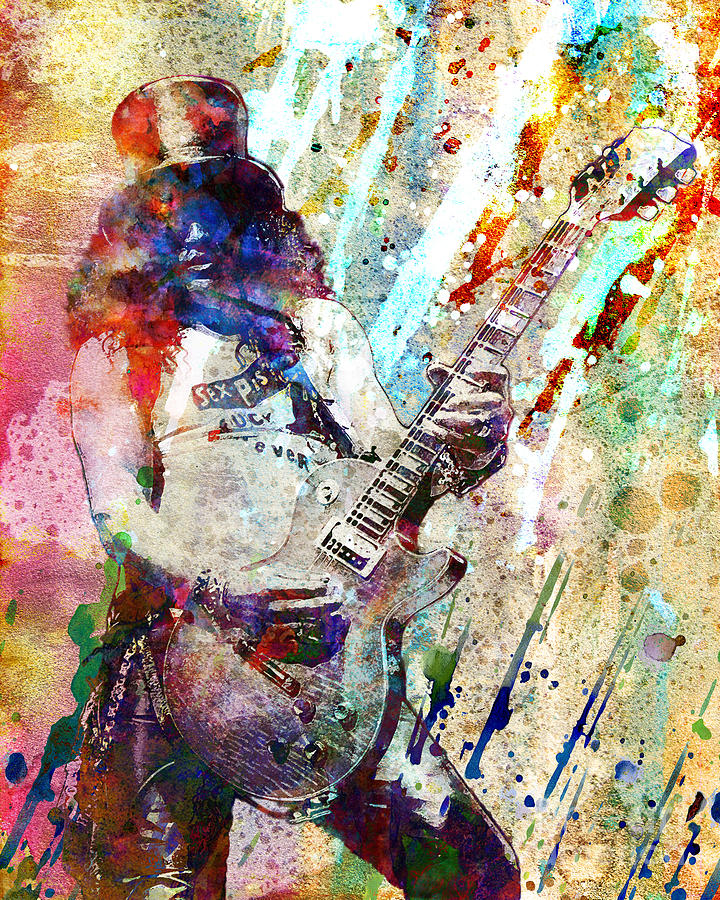 Slash Original Painting By Ryan Rock Artist