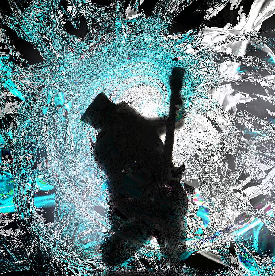 Saul Hudson Mixed Media - Slash by Kume Bryant