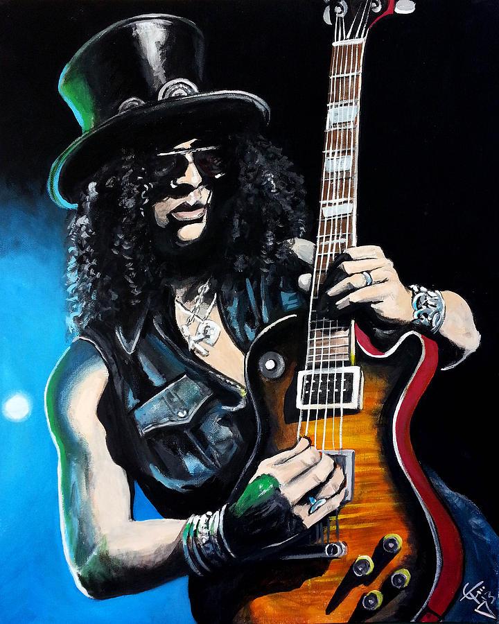 Slash Painting - Slash by Tom Carlton