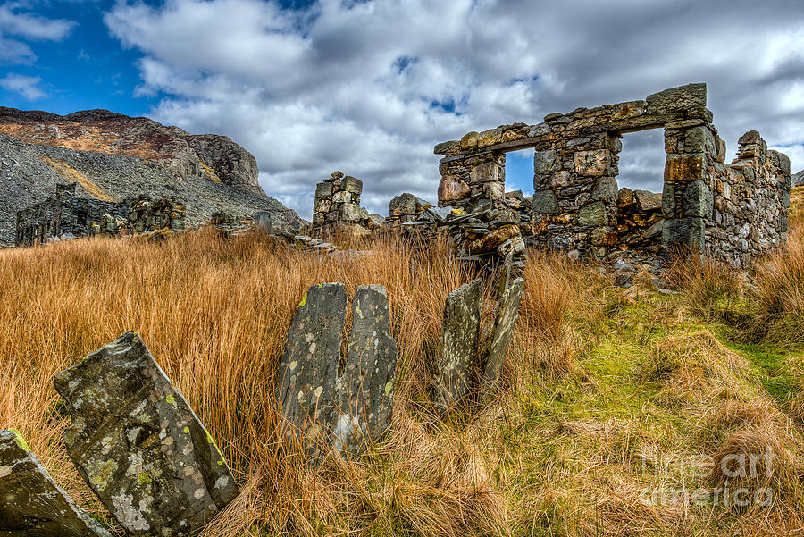Cwmorthin Photograph - Slate Mine Ruins by Adrian Evans