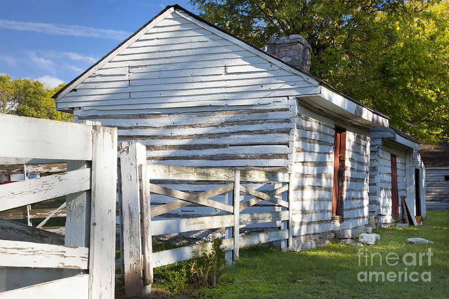 Slave Photograph - Slave Huts On Southern Farm by Brian Jannsen