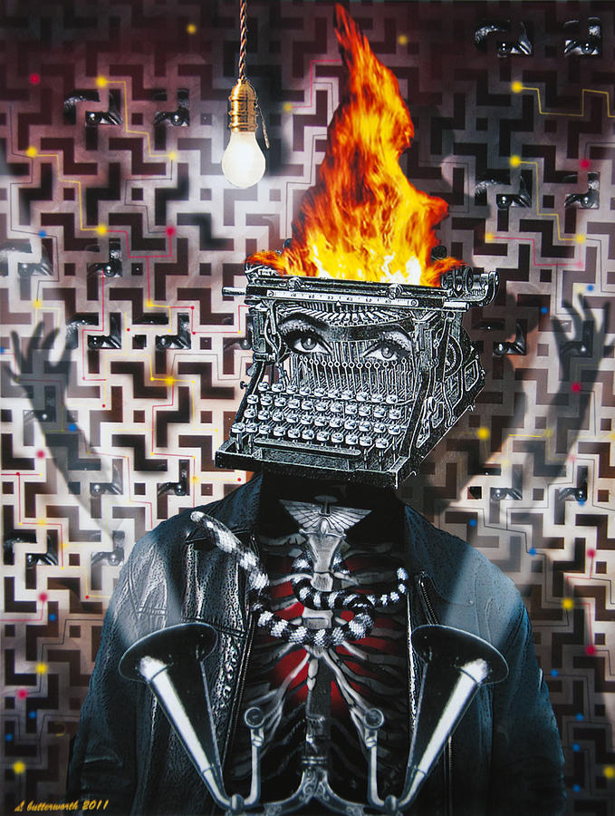 Steampunk Digital Art - Slaves Of Technology by Larry Butterworth