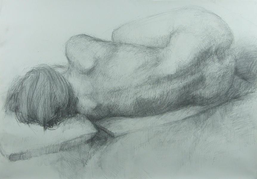 Female Drawing - Sleep by Cynthia Harvey