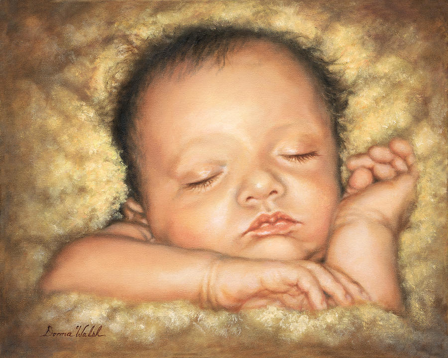 newborn painting sleep tight my love by donna hillman walsh