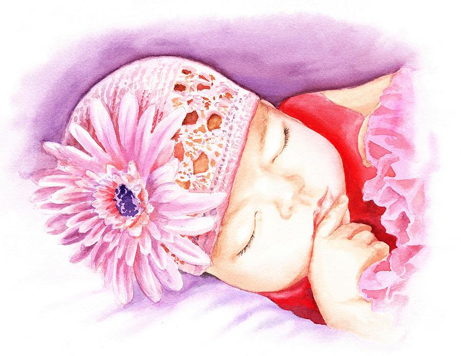 Sleeping Baby Painting - Sleeping Baby by Irina Sztukowski