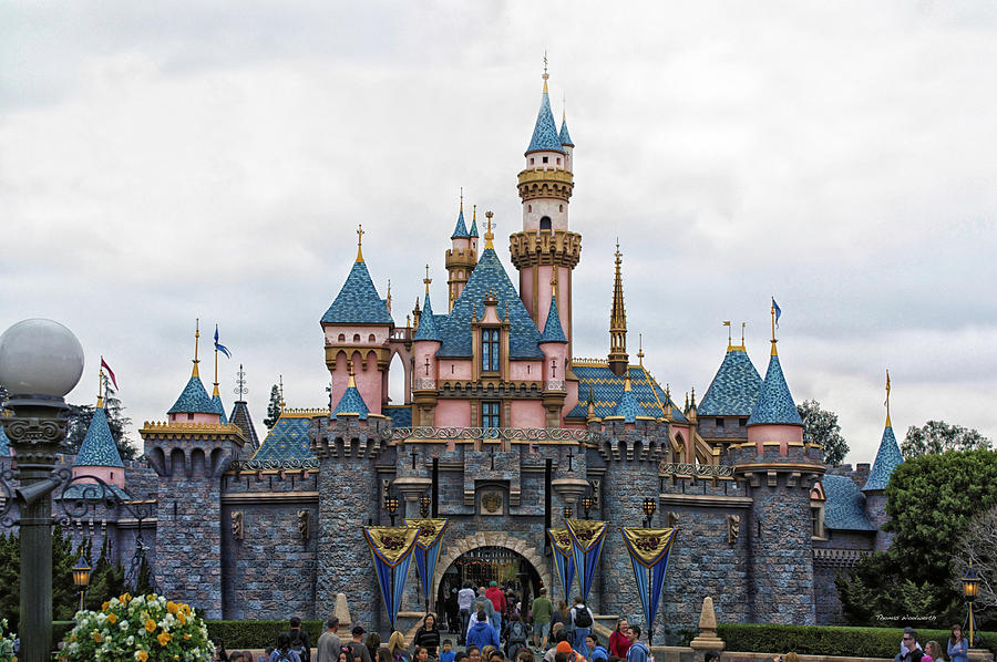 Sleeping Beauty Castle Disneyland Front View Photograph By