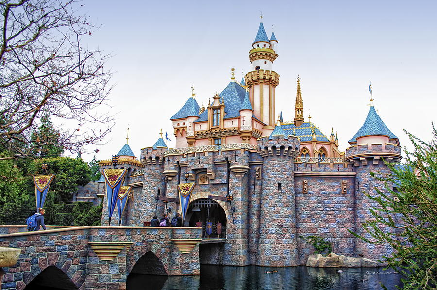 Sleeping Beauty Castle Disneyland Side View Photograph By