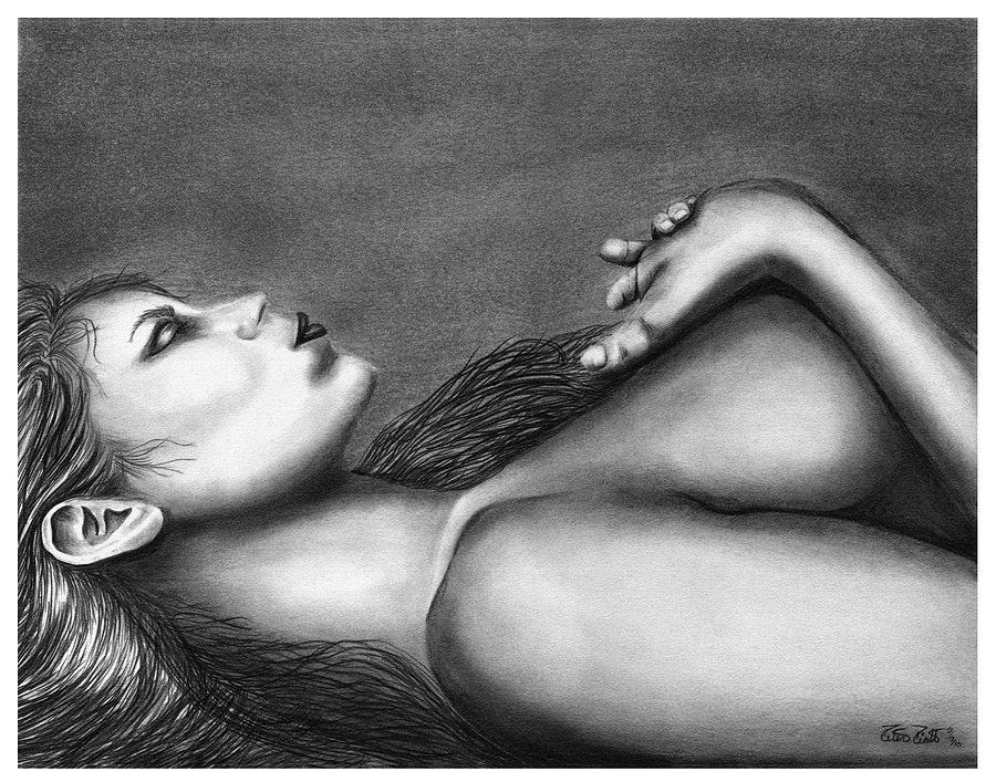 Sleeping Beauty Drawing - Sleeping Beauty  by Peter Piatt