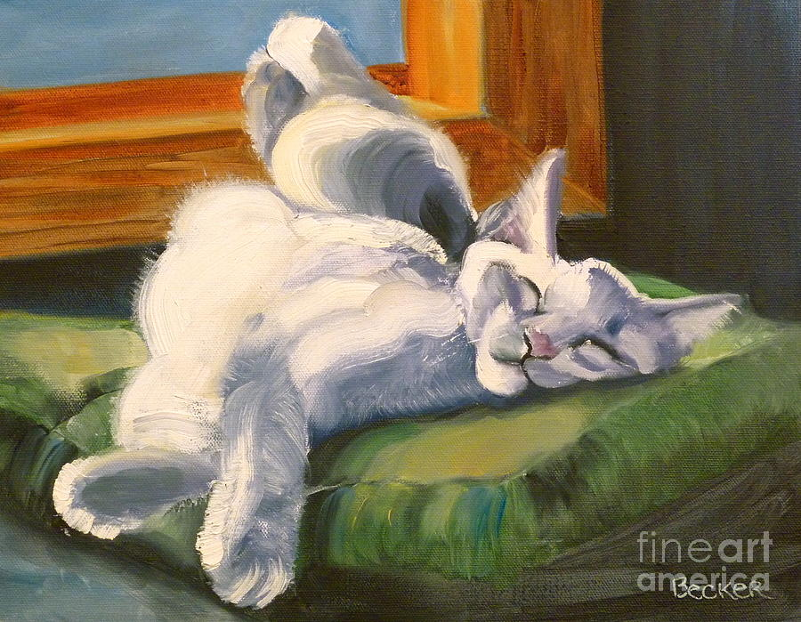 Cat Painting - Sleeping Beauty by Susan A Becker