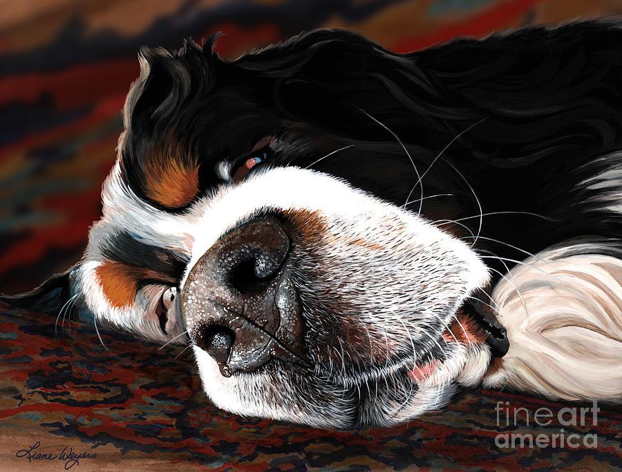 Sleeping Dogs Lie Painting by Liane Weyers