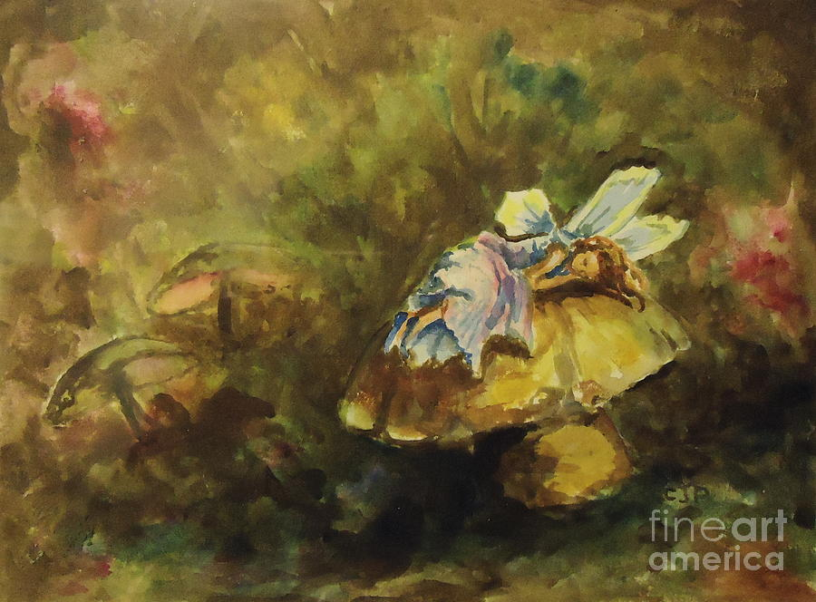 Sleeping Fairy Painting By Carole Powell
