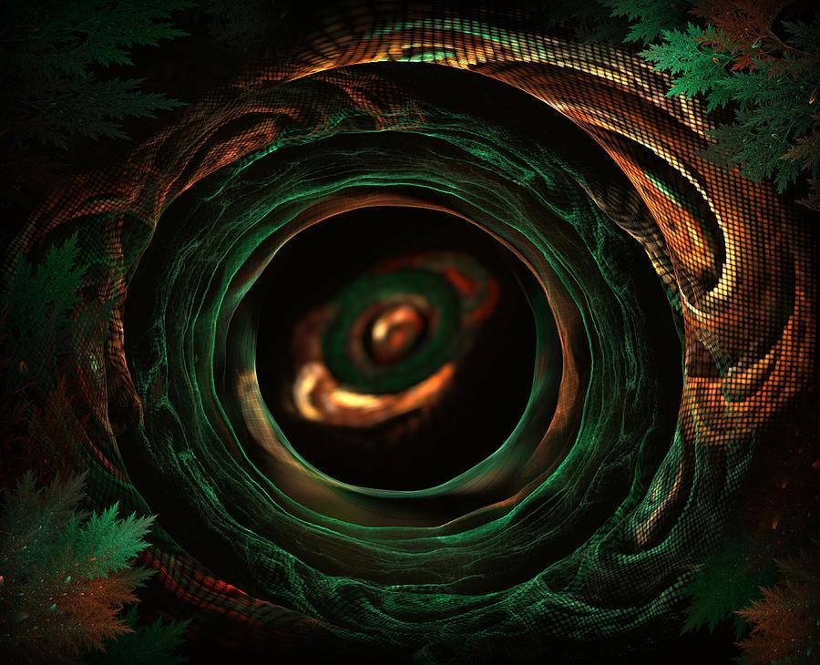 Snake Digital Art - Sleeping Snake by Radoslav Nedelchev