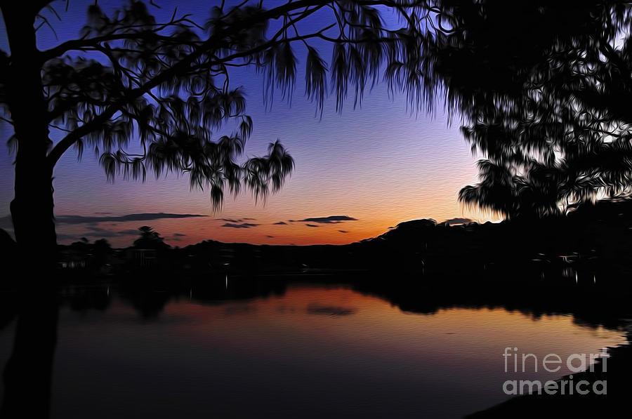 Digital Painting Photograph - Sleeping Sun by Kaye Menner