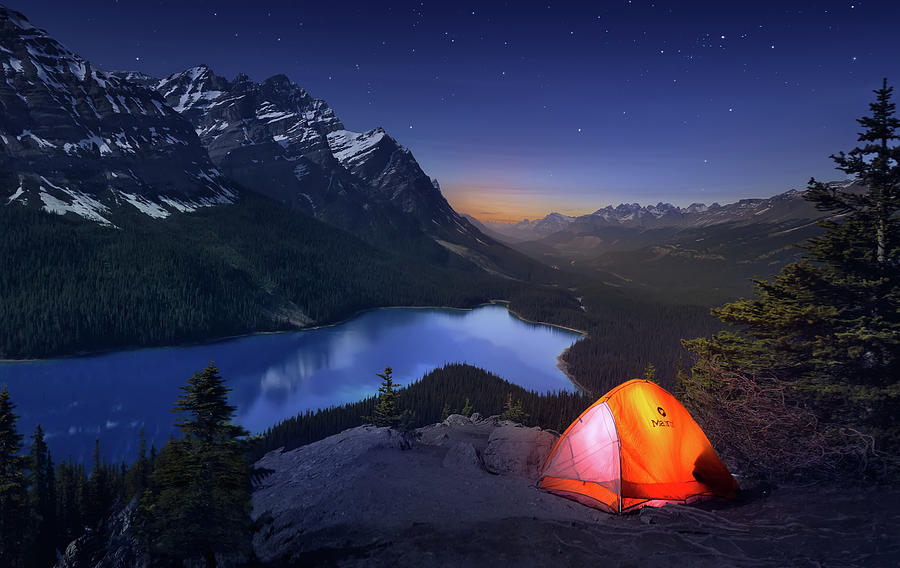 Mountain Photograph - Sleeping With The Stars by Jes?s M. Garc?a