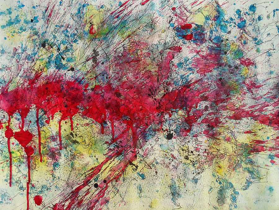 Abstractionsbyronda Painting - Sleepwalking by Ronda Stephens