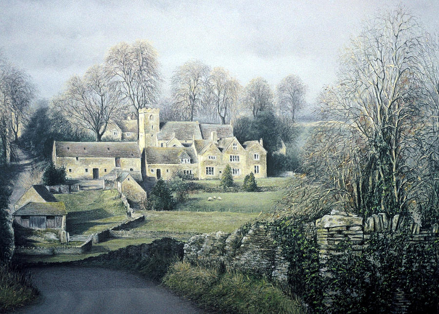 Landscape Painting - Sleepy Hamlet by Rosemary Colyer