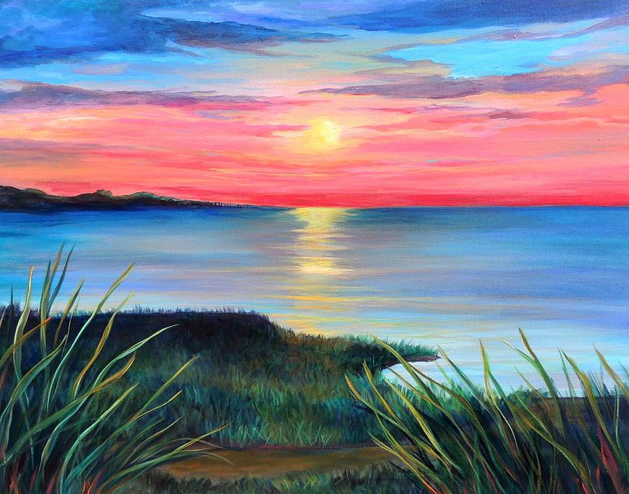 Landscape Painting - Sleepy Hatteras by Dawn Gray Moraga