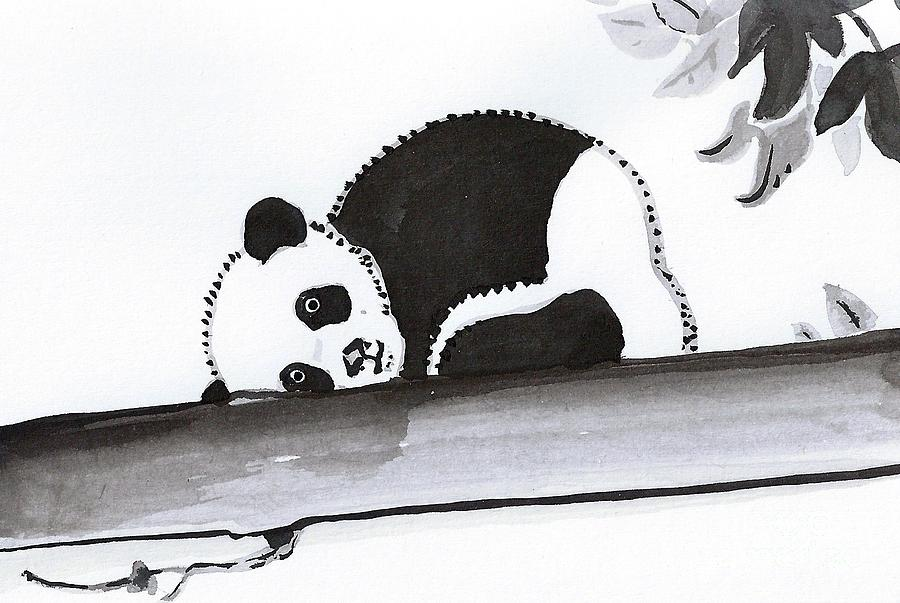 Sleepy Panda Painting