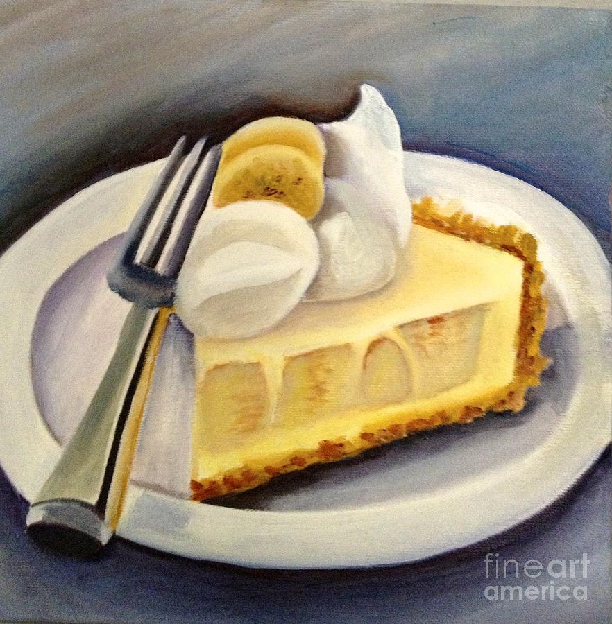 Slice Banana Cream Pie Painting by Susan Kronowitz