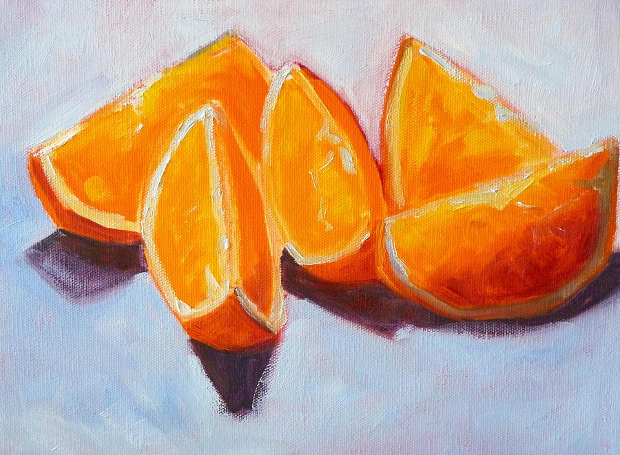 Citrus Painting - Sliced by Nancy Merkle