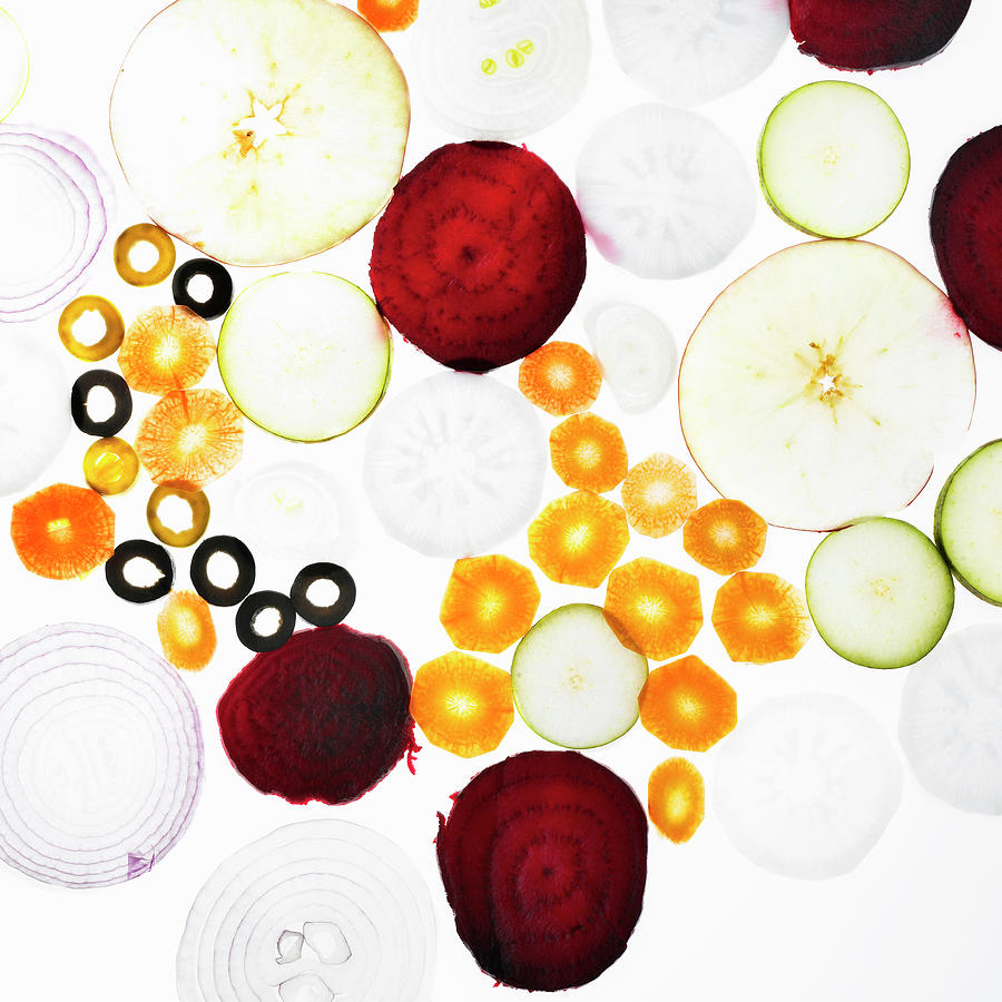 Sliced Vegetables On Counter Photograph by Lisbeth Hjort