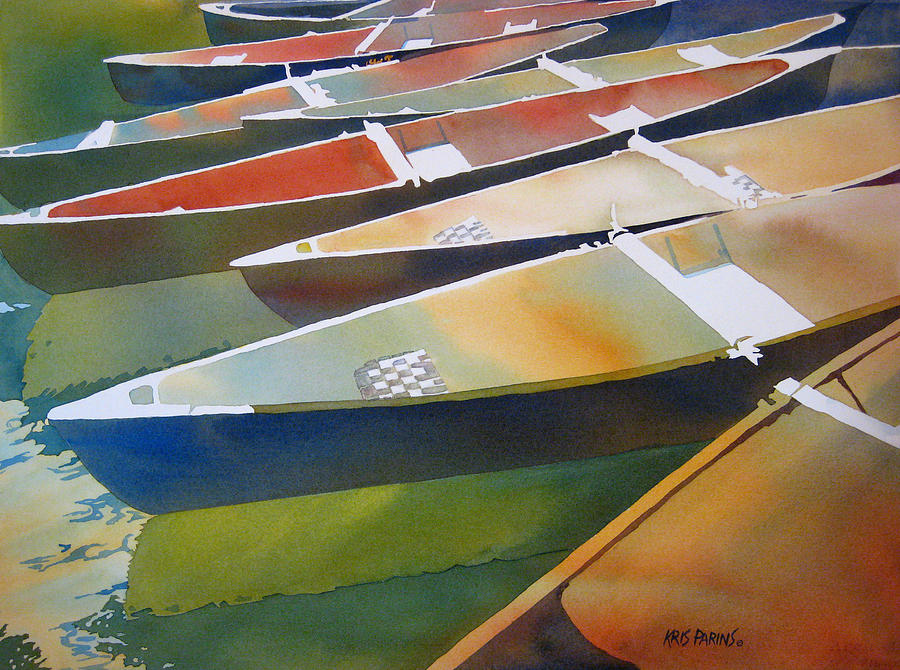 Watercolor Painting - Slices by Kris Parins