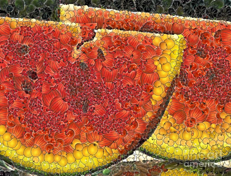 Fruits Digital Art - Slices Of Watermelon by Dragica  Micki Fortuna