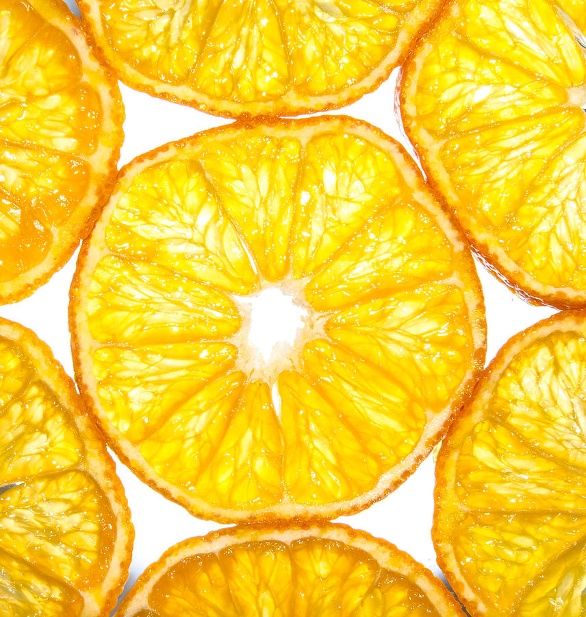 Passion Photograph - Slices Orange. by Slavica Koceva