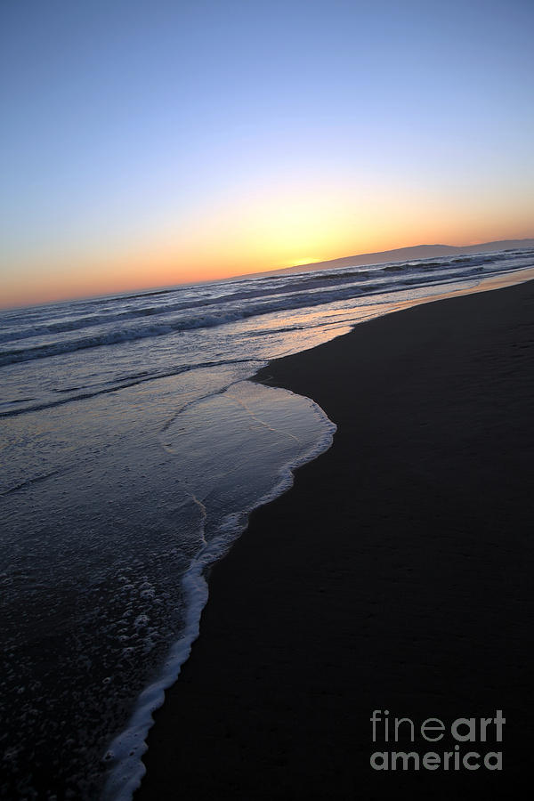 Sunset Beach Photograph - Sliding Down - Sunset Beach California by Amanda Barcon