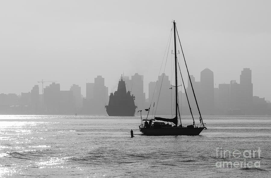San Diego Photograph - Slipping Into Port 5-2628-2 by Stephen Parker