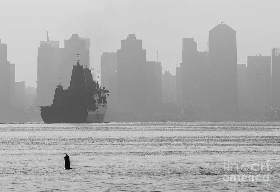 San Diego Photograph - Slipping Into Port 5-2630-2 by Stephen Parker