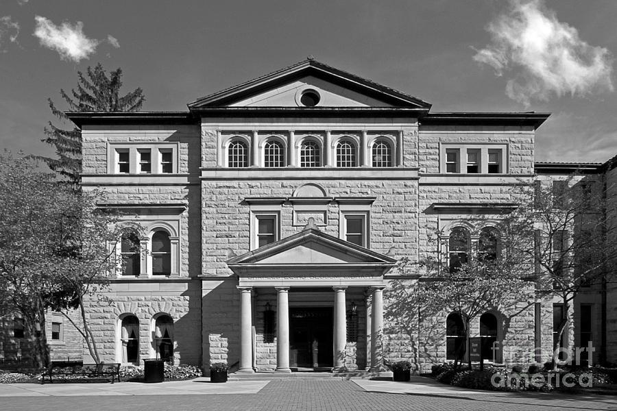 Delaware Photograph - Slocum Library Ohio Wesleyan University by University Icons