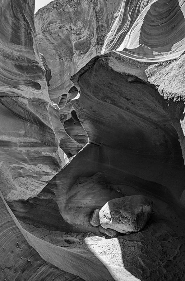 Slot Canyon Photograph - Slot Canyons In Black And White  by Saija  Lehtonen