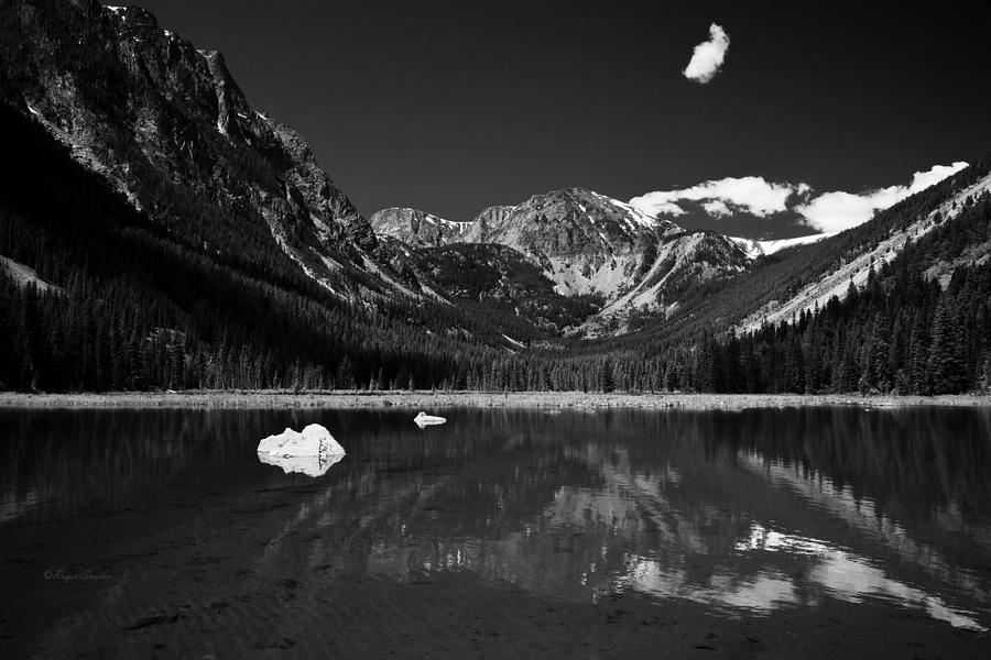Unique Photograph - Slough Lake 3 Bw by Roger Snyder