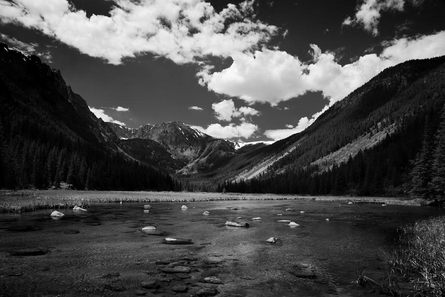 Montana Photograph - Slough Lake 5 Bw by Roger Snyder