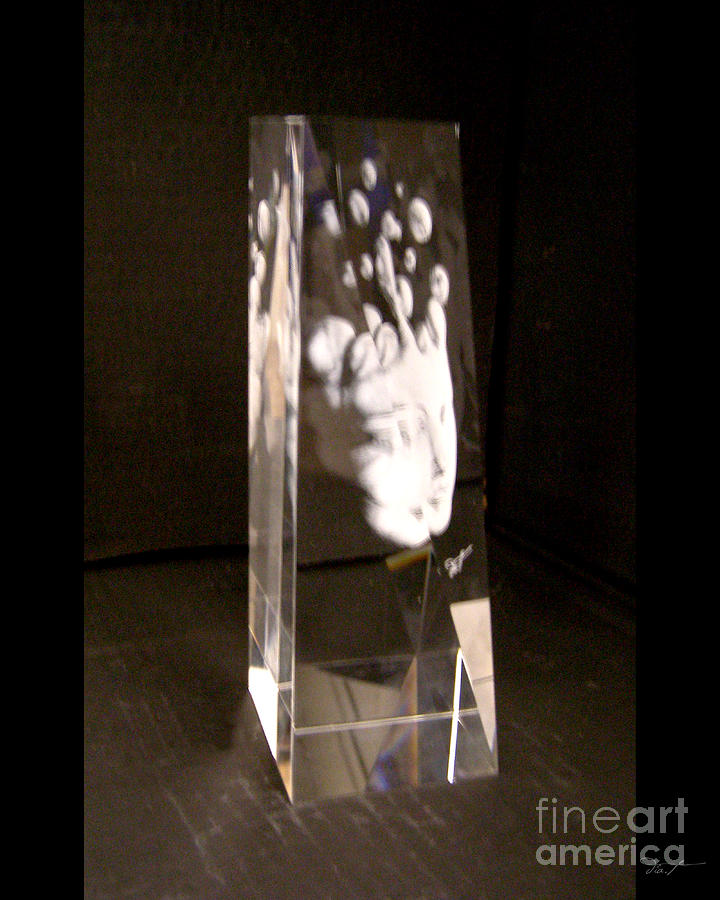 Crystal Glass Art - Slow Boil Crystal Sculpture 6 by Dia T